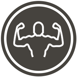 Brown Muscle Icon